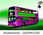 Red City Bus On City Panorama...