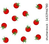 seamless pattern with fresh red ... | Shutterstock .eps vector #1632946780
