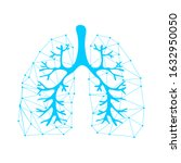 lungs symbol. breathing. lunge... | Shutterstock .eps vector #1632950050