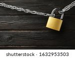 Steel Padlock  Chain And Space...