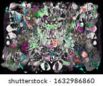 bright color abstract painting... | Shutterstock . vector #1632986860