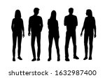 vector silhouettes of  men and... | Shutterstock .eps vector #1632987400