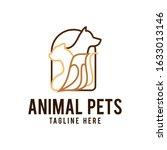 Home Pets Logo Dog Cat Design...