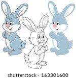 little hare   Shutterstock .eps vector #163301600