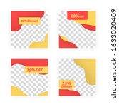 social media post templates for ... | Shutterstock .eps vector #1633020409