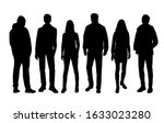 vector silhouettes of  men and... | Shutterstock .eps vector #1633023280