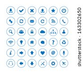 web icons. vector available. | Shutterstock . vector #163302650