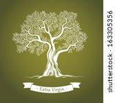olive tree. olive oil. vector ... | Shutterstock .eps vector #163305356
