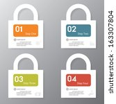 design clean number banners... | Shutterstock .eps vector #163307804