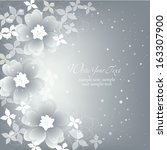 wedding card or invitation with ... | Shutterstock .eps vector #163307900