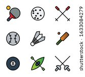 sport icon set outline style... | Shutterstock .eps vector #1633084279