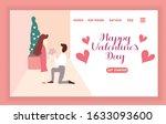 couple is celebrating valentine'...   Shutterstock .eps vector #1633093600