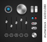 hi end user interface elements  ... | Shutterstock .eps vector #163311380
