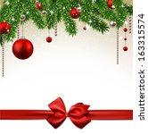 christmas background with fir... | Shutterstock .eps vector #163315574