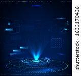 futuristic hologram for...