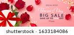 promotion poster for women's... | Shutterstock .eps vector #1633184086