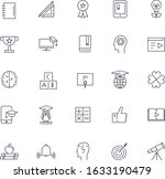 line icon set. education pack.... | Shutterstock .eps vector #1633190479