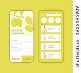 vector olive oil shop mobile...