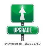 upgrade road sign illustration... | Shutterstock . vector #163321760