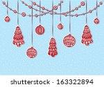 christmas decoration | Shutterstock .eps vector #163322894