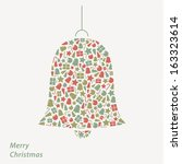 vector christmas card. modern... | Shutterstock .eps vector #163323614