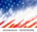 usa or american flag paintbrush ...   Shutterstock . vector #1633236346
