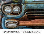 Old Rusted Metal Front Grill...