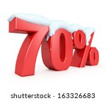 3d red snowy discount... | Shutterstock . vector #163326683