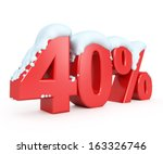 3d red snowy discount... | Shutterstock . vector #163326746