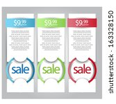 web banners for sale and...   Shutterstock .eps vector #163328150