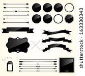 vector set of design elements   Shutterstock .eps vector #163330343