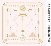 zodiac sign   sagittarius and...   Shutterstock .eps vector #1633309936