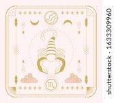 zodiac sign   scorpio and its...   Shutterstock .eps vector #1633309960