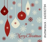 merry christmas and happy new... | Shutterstock .eps vector #163332734