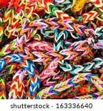 Loom Bracelet. Close Up. Young...
