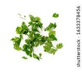 fresh green chopped parsley... | Shutterstock . vector #1633378456