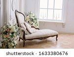Rococo Style Sofa In A Bright...