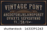 decorative vintage font on the... | Shutterstock .eps vector #1633391263