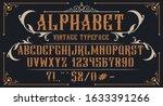 decorative vintage alphabet.... | Shutterstock .eps vector #1633391266