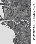 city map manila  monochrome... | Shutterstock .eps vector #1633397176
