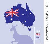 australia map with flag  label... | Shutterstock .eps vector #1633422160