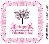 happy valentine's day ...   Shutterstock .eps vector #163342604