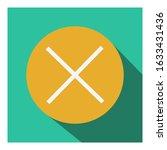 cross mark flat vector icon  ...