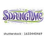 greeting card for spring season ...   Shutterstock . vector #1633440469