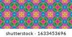 bohemian summer pattern print....   Shutterstock . vector #1633453696