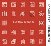 editable 22 software icons for...