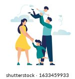 vector illustration of a happy... | Shutterstock .eps vector #1633459933