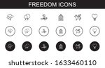 freedom icons set. collection... | Shutterstock .eps vector #1633460110