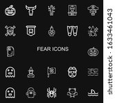 editable 22 fear icons for web... | Shutterstock .eps vector #1633461043