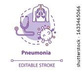 pneumonia concept icon. lung... | Shutterstock .eps vector #1633465066